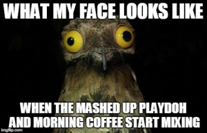morning coffee playdoh